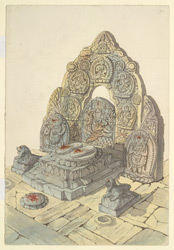 Churan or Footprints of Manjusri Budhisutwa at Sambhunath. February 1855